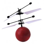 image of INFRARED INDUCTION FLYING BALL TOY HELICOPTER FOR KIDS (RED) 0