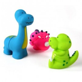 image of DINOSAUR SHAPED SOFT BUILDING TOY (COLORMIX) 0