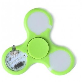 image of STRESS RELIEVER FIDGET SPINNER WITH LETTERS LED LIGHT (GREEN) -