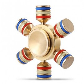 image of ALLOY FIDGET SPINNER FUNNY STRESS RELIEVER RELAXATION GIFT (GOLDEN) -