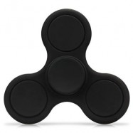 image of TRI-WING MATTE SURFACE ADHD FIDGET SPINNER STRESS RELIEF PRODUCT ADULT FIDGETING TOY (BLACK) -