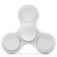 image of TRI-WING MATTE SURFACE ADHD FIDGET SPINNER STRESS RELIEF PRODUCT ADULT FIDGETING TOY (WHITE) -