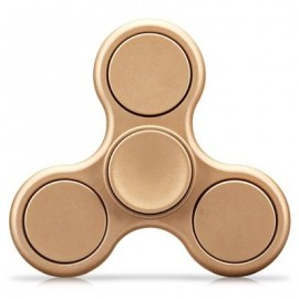 image of TRI-WING MATTE SURFACE ADHD FIDGET SPINNER STRESS RELIEF PRODUCT ADULT FIDGETING TOY (GOLDEN) -