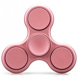 image of TRI-WING MATTE SURFACE ADHD FIDGET SPINNER STRESS RELIEF PRODUCT ADULT FIDGETING TOY (ROSE GOLD) -