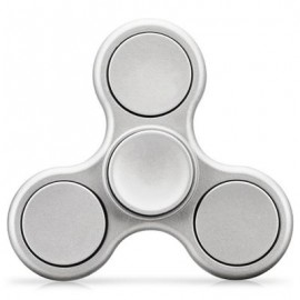 image of TRI-WING MATTE SURFACE ADHD FIDGET SPINNER STRESS RELIEF PRODUCT ADULT FIDGETING TOY (SILVER) -