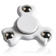 image of STRESS RELIEF TOY TRIANGLE BALL BEARING FIDGET SPINNER (WHITE) -