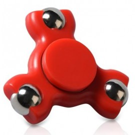 image of STRESS RELIEF TOY TRIANGLE BALL BEARING FIDGET SPINNER (RED) -