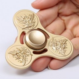 image of KING OF GLORY PATTERN EDC FIDGET SPINNER FOR ADHD (GOLDEN) 7.5*7.5*1CM