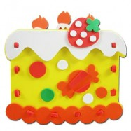 image of KID STEREOSCOPIC STICKER PEN CONTAINER HANDMADE STICKUP EDUCATIONAL TOY (YELLOW, CAKE) Cake