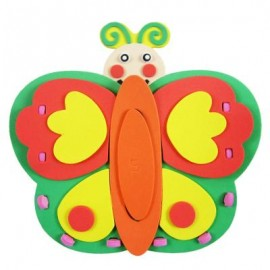 image of KID STEREOSCOPIC STICKER PEN CONTAINER HANDMADE STICKUP EDUCATIONAL TOY (ORANGE, BUTTERFLY) Butterfly