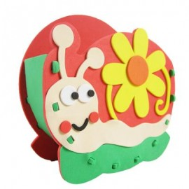 image of KID STEREOSCOPIC STICKER PEN CONTAINER HANDMADE STICKUP EDUCATIONAL TOY (ORANGE, SNAIL) Snail