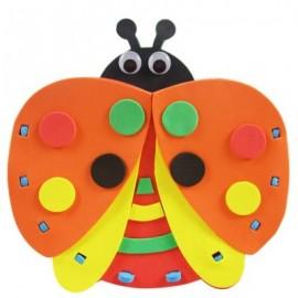 image of KID STEREOSCOPIC STICKER PEN CONTAINER HANDMADE STICKUP EDUCATIONAL TOY (ORANGE, LADYBIRD) Ladybird