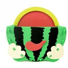 image of KID STEREOSCOPIC STICKER PEN CONTAINER HANDMADE STICKUP EDUCATIONAL TOY (GREEN, WATERMELON) Watermelon