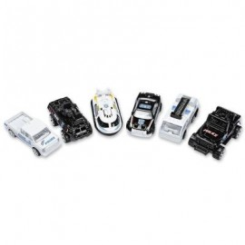 image of 6PCS POLICE VEHICLE DIE-CAST MODEL CAR 1:64 SCALE CHILDREN TOYS (WHITE AND BLACK) 0