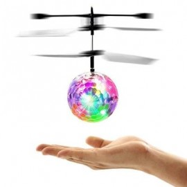 image of INDUCTION COLORFUL LAMP FLASH FLYING BALL HELICOPTER TOY FOR KIDS (WHITE) 0