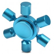 image of STRESS RELIEF TOY RUDDER FIDGET METAL SPINNER (BLUE) -