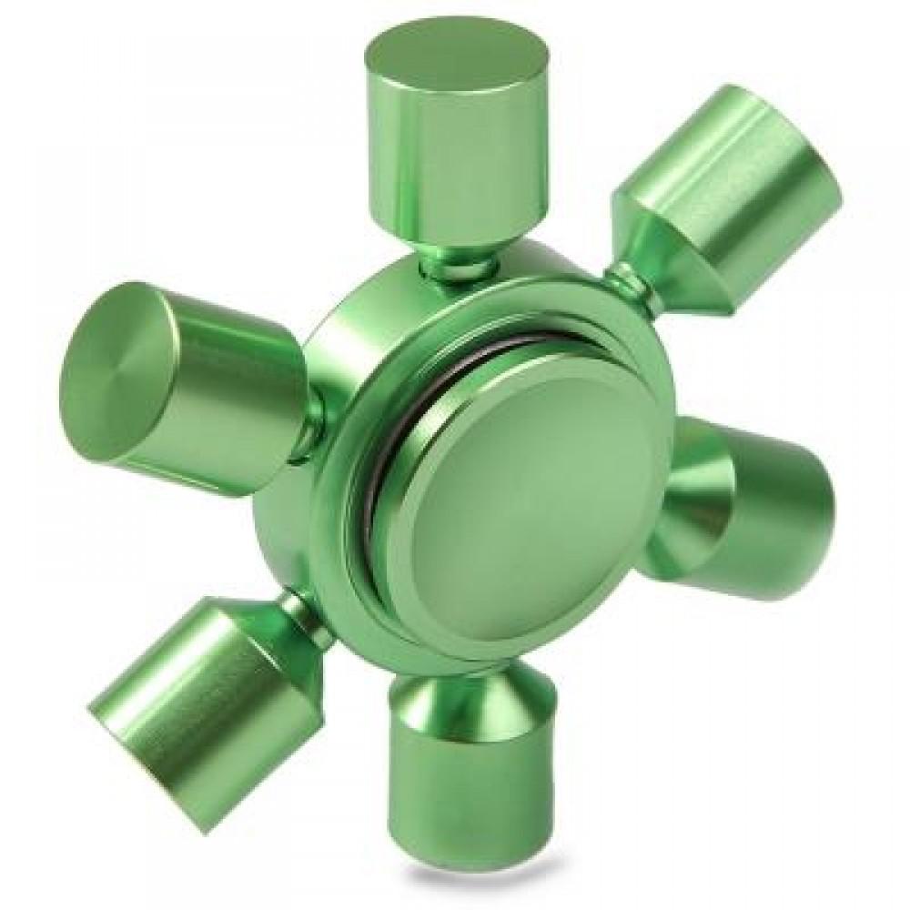 STRESS RELIEF TOY RUDDER FIDGET METAL SPINNER (GREEN) -