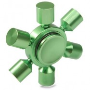image of STRESS RELIEF TOY RUDDER FIDGET METAL SPINNER (GREEN) -