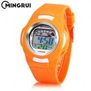 image of MINGRUI 8522 KIDS DIGITAL MOVT WATCH LED LIGHT DATE DAY CHRONOGRAPH DISPLAY 3ATM WRISTWATCH (SWEET ORANGE) 0