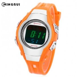 image of MINGRUI 8505 KIDS DIGITAL MOVT WATCH LED LIGHT DATE DAY CHRONOGRAPH DISPLAY 3ATM WRISTWATCH (SWEET ORANGE) 0