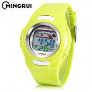 image of MINGRUI 8522 KIDS DIGITAL MOVT WATCH LED LIGHT DATE DAY CHRONOGRAPH DISPLAY 3ATM WRISTWATCH (EMERALD) 0