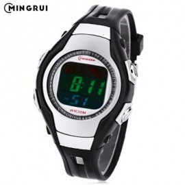 image of MINGRUI 8505 KIDS DIGITAL MOVT WATCH LED LIGHT DATE DAY CHRONOGRAPH DISPLAY 3ATM WRISTWATCH (BLACK) 0