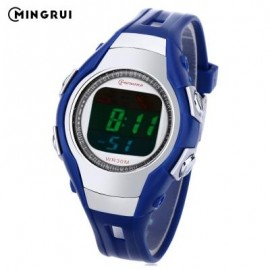 image of MINGRUI 8505 KIDS DIGITAL MOVT WATCH LED LIGHT DATE DAY CHRONOGRAPH DISPLAY 3ATM WRISTWATCH (BLUE) 0