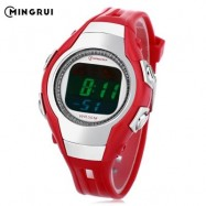 image of MINGRUI 8505 KIDS DIGITAL MOVT WATCH LED LIGHT DATE DAY CHRONOGRAPH DISPLAY 3ATM WRISTWATCH (RED) 0