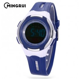 image of MINGRUI MR - 8545071 KIDS DIGITAL MOVT WATCH LED LIGHT DATE DAY CHRONOGRAPH 3ATM WRISTWATCH (AZURE) 0