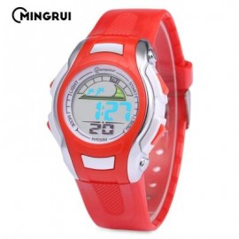 image of MINGRUI MR - 8530021 KIDS DIGITAL MOVT WATCH LED LIGHT DATE DAY CHRONOGRAPH 3ATM WRISTWATCH (RED) 0