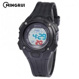 image of MINGRUI MR - 8548013 KIDS DIGITAL MOVT WATCH LED LIGHT DATE DAY CHRONOGRAPH 3ATM WRISTWATCH (BLACK) 0