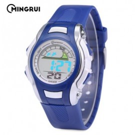 image of MINGRUI MR - 8530021 KIDS DIGITAL MOVT WATCH LED LIGHT DATE DAY CHRONOGRAPH 3ATM WRISTWATCH (AZURE) 0
