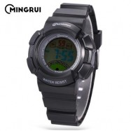 image of MINGRUI MR - 8540061 KIDS DIGITAL MOVT WATCH LED LIGHT DATE DAY CHRONOGRAPH 3ATM WRISTWATCH (BLACK) 0