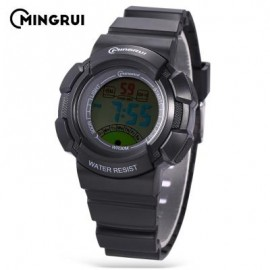 image of MINGRUI MR - 8540061 KIDS DIGITAL MOVT WATCH LED LIGHT DATE DAY CHRONOGRAPH 3ATM WRISTWATCH (BLACK) 0