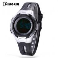 image of MINGRUI MR - 8545071 KIDS DIGITAL MOVT WATCH LED LIGHT DATE DAY CHRONOGRAPH 3ATM WRISTWATCH (BLACK) 0