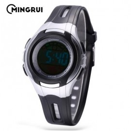 image of MINGRUI MR - 8545071 KIDS DIGITAL MOVT WATCH LED LIGHT DATE DAY CHRONOGRAPH 3ATM WRISTWATCH (BLACK) 0
