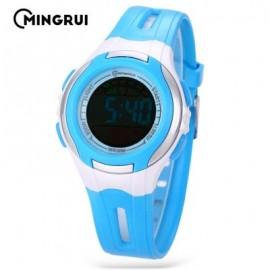 image of MINGRUI MR - 8545071 KIDS DIGITAL MOVT WATCH LED LIGHT DATE DAY CHRONOGRAPH 3ATM WRISTWATCH (LAKE BLUE) 0