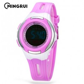 image of MINGRUI MR - 8545071 KIDS DIGITAL MOVT WATCH LED LIGHT DATE DAY CHRONOGRAPH 3ATM WRISTWATCH (PURPLE) 0