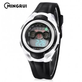 image of MINGRUI MR - 8580059 KIDS DIGITAL CALENDAR 3ATM WRISTWATCH (BLACK) 0