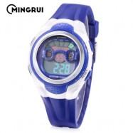 image of MINGRUI MR - 8580059 KIDS DIGITAL CALENDAR 3ATM WRISTWATCH (BLUE) 0