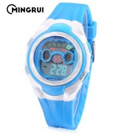 image of MINGRUI MR - 8580059 KIDS DIGITAL CALENDAR 3ATM WRISTWATCH (LAKE BLUE) 0