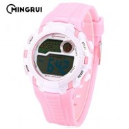 image of MINGRUI MR - 8562033 CHILDREN DIGITAL LED WATCH CHRONOGRAPH CALENDAR KIDS WRISTWATCH (PINK) 0