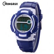 image of MINGRUI MR - 8565112 KIDS LED DIGITAL WATCH ALARM CALENDAR CHRONOGRAPH 3ATM WRISTWATCH (BLUE) 0