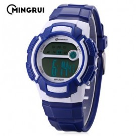 image of MINGRUI MR - 8565112 KIDS LED DIGITAL WATCH ALARM CALENDAR CHRONOGRAPH 3ATM WRISTWATCH (BLUE) 0