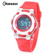 image of MINGRUI MR - 8575113 KIDS DIGITAL CALENDAR 3ATM WRISTWATCH (RED) 0