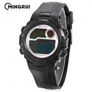image of MINGRUI MR - 8562033 CHILDREN DIGITAL LED WATCH CHRONOGRAPH CALENDAR KIDS WRISTWATCH (BLACK) 0
