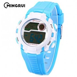 image of MINGRUI MR - 8562033 CHILDREN DIGITAL LED WATCH CHRONOGRAPH CALENDAR KIDS WRISTWATCH (LAKE BLUE) 0