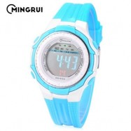 image of MINGRUI MR - 8555096 KIDS DIGITAL MOVT WATCH LED LIGHT DATE DAY ALARM CHRONOGRAPH 3ATM WRISTWATCH (LAKE BLUE) 0