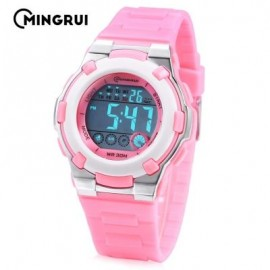 image of MINGRUI MR - 8575113 KIDS DIGITAL CALENDAR 3ATM WRISTWATCH (PINK) 0