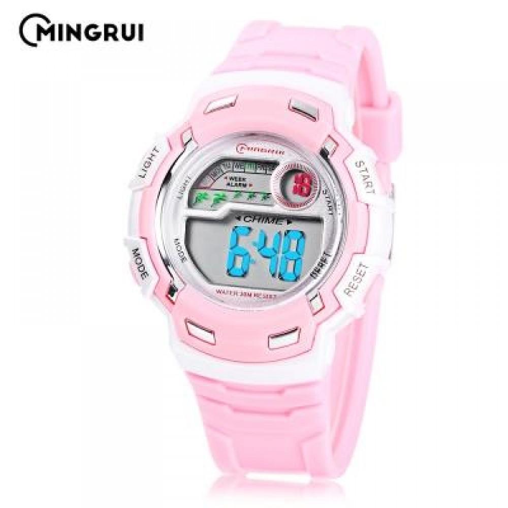 MINGRUI MR - 8582033 CHILDREN DIGITAL LED WATCH (PINK) 0